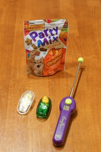 clickers and cat treats