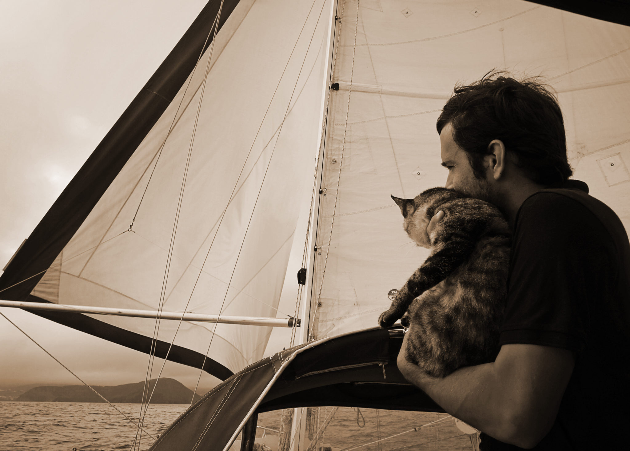 Georgie Boat Cat and Matt