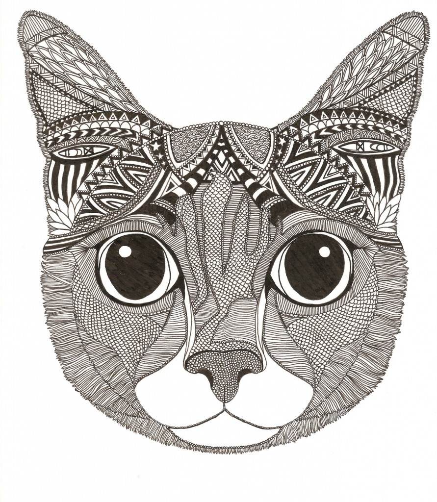 Mango the cat illustration