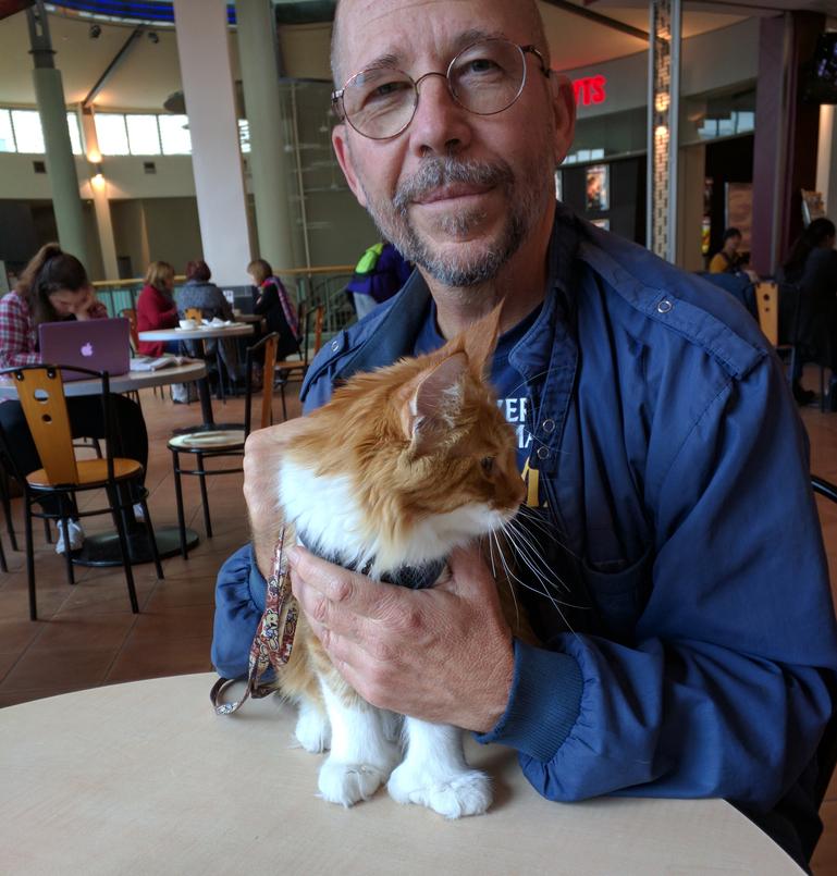 Skatty Boat Cat and Paul Thompson