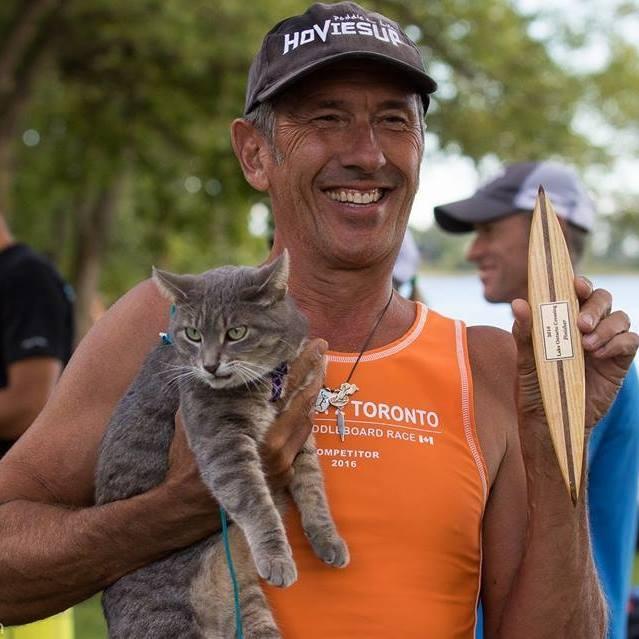 Veterinarian and his Cat