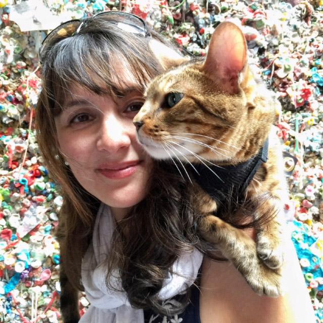 Cindy Rio-Rados with Romeo on shoulder
