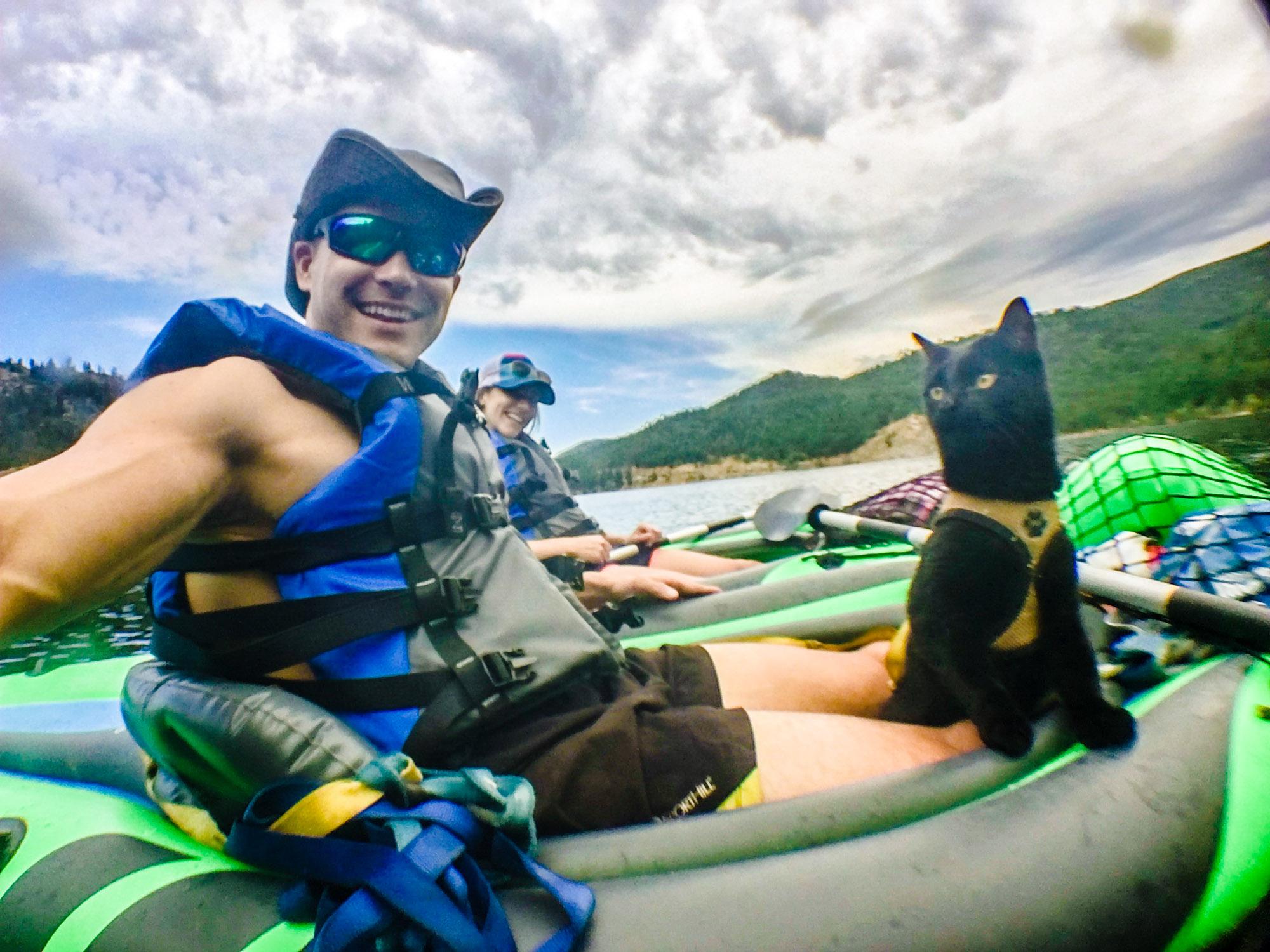 JJ and Simon kayaking